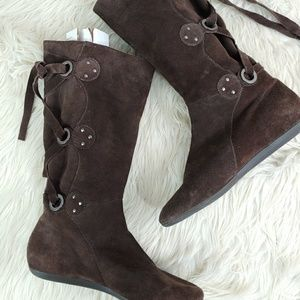MICHELLE D FRENZY LEATHER BOOT SZ 7.5